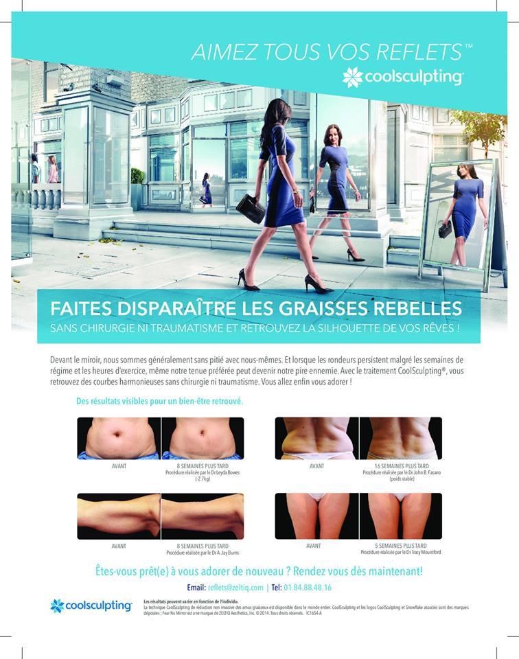Publicité Elle CoolSculpting